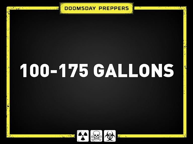 Answer 1: 100-175 Gallons