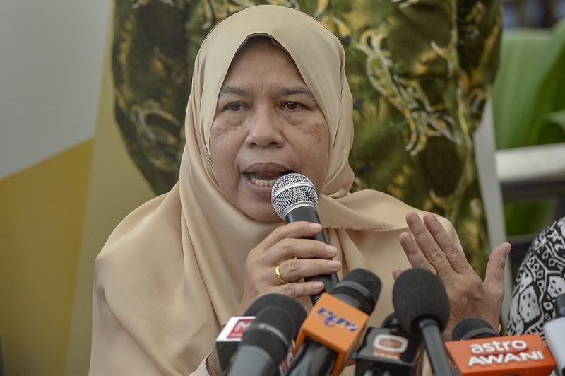 PKR vice-president Zuraida Kamaruddin Zuraida Kamaruddin speaks at a press conference in Putrajaya January 3, 2019. — Picture by Mukhriz Hazim