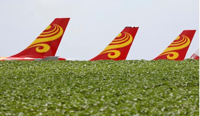 Most of Hong Kong Airlines' aircraft are not flying. Photo: Reuters