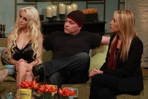 'Couples Therapy' duo Courtney Stodden and Doug Hutchison stop by Access Hollywood Live on October 8, 2012. -- Access Hollywood