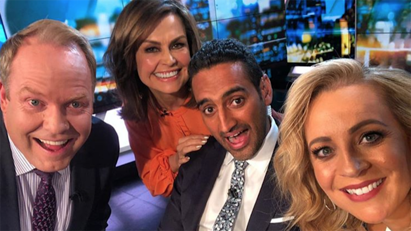 The Project's Peter Helliar, Lisa Wilkinson, Waleed Aly and Carrie Bickmore. Photo: Instagram