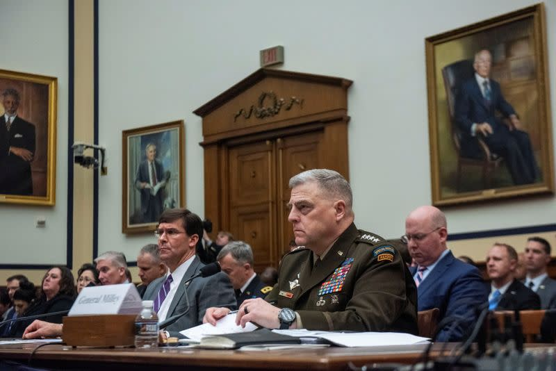 Testimony from Defense Secretary Mark Esper and Chairman of Joint Chiefs of Staff Gen. Mark Milley