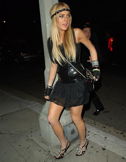 Lindsay Lohan and Karl Lagerfeld Sightings at Koi in West Hollywood - May 18, 2007
