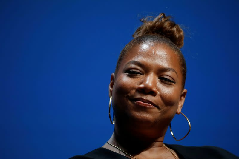 FILE PHOTO: Queen Latifah attends a conference at the Cannes Lions International Festival of Creativity, in Cannes
