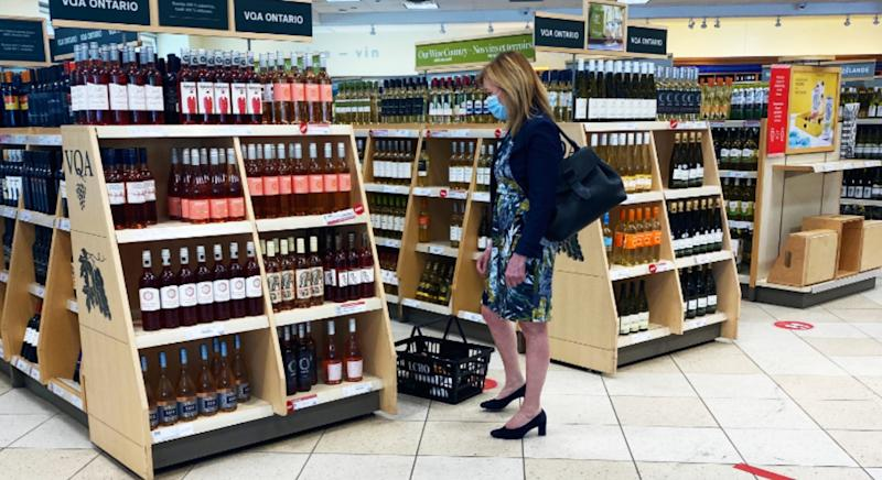 Ontario Health Minister Christine Elliott seen shopping at a Toronto LCBO while awaiting her COVID-19 test result (Credit: CP24)