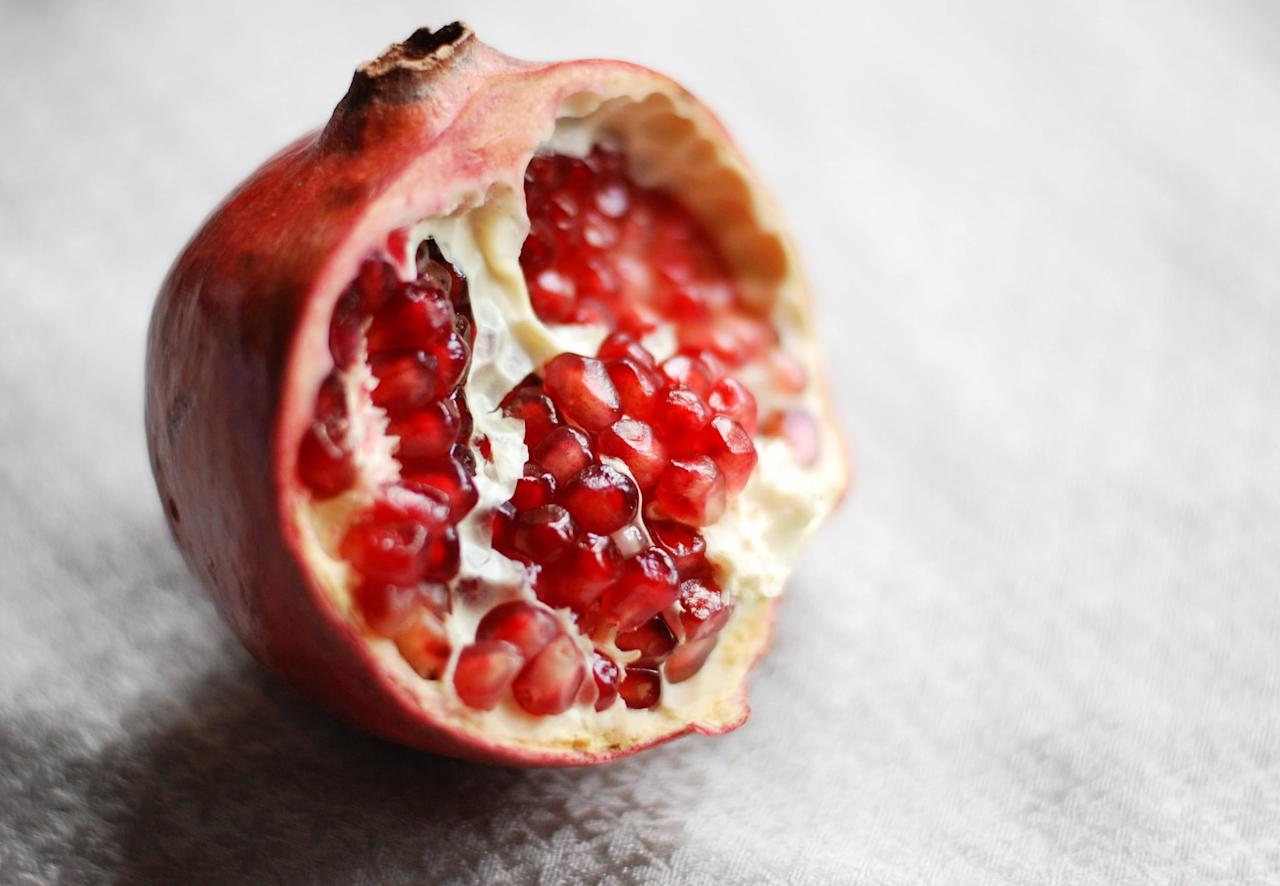 """<p>Pomegranates have been enjoyed for centuries and are now thought of as a superfood because of the unique nutrients they contain. <a href=""""https://www.ncbi.nlm.nih.gov/pmc/articles/PMC3671682/"""" target=""""_blank"""" class=""""ga-track"""" data-ga-category=""""Related"""" data-ga-label=""""https://www.ncbi.nlm.nih.gov/pmc/articles/PMC3671682/"""" data-ga-action=""""In-Line Links"""">Nearly every part of the pomegranate plant is thought to be antimicrobial</a>, meaning this seasonal fruit may prevent the growth of bacteria and viruses. Plus, both pomegranate juice and the seeds boast a wealth of immune-supporting nutrients, including vitamin C - so be sure to get your fill this fall.</p>"""
