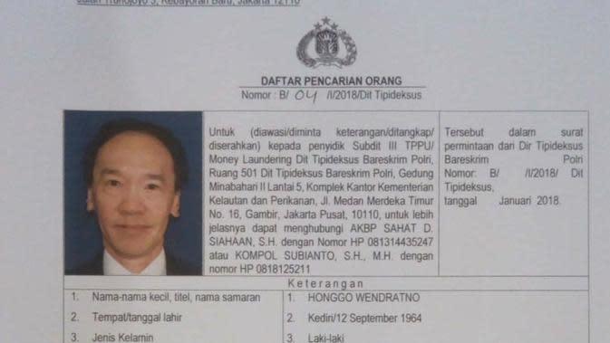 Singapura Bantah Keberadaan Honggo Wendratno, Polri: Itu Hak Setiap Negara