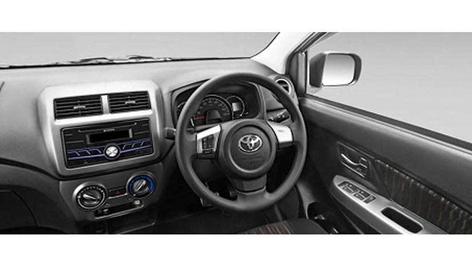 Tampilan dashboard Toyota New Agya.