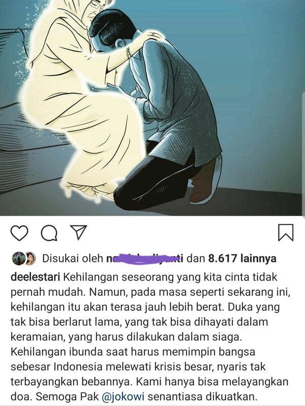 Unggahan Dewi Lestari. (Foto: Instagram @deelestari)