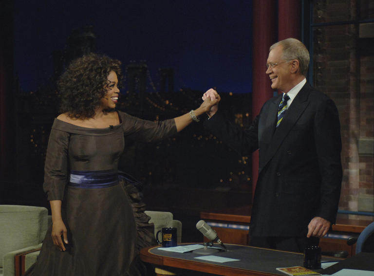 20 Classic 'Late Show' Moments We're Glad We Stayed Up For: Oprah's first appearance in 2005