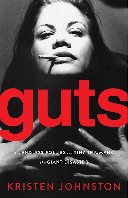 "In this book cover image released by Gallery Books, ""Guts: the Enless Follies and Tiny Triumphs of a Giant Disaster,"" by Kristen Johnston, is shown. (AP Photo/Gallery Books)"