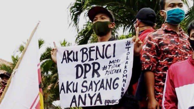 Demonstran aksi tolak Omnibus Law ingat pada Anya Geraldine