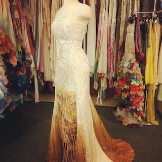 The dress' design was dominated by its colour change. Photo: Facebook