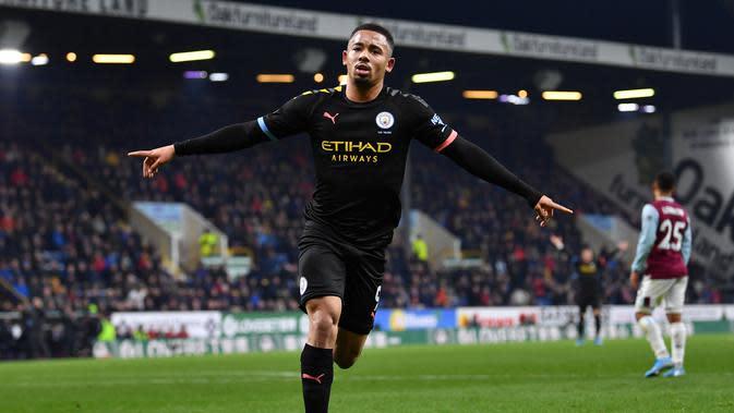 Gabriel Jesus Dua Gol, City Hajar Burnley (AFP)