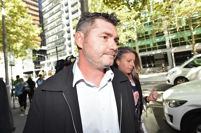 Stephen Williams, brother of Karen Ristevski departs the Supreme Court of Victoria on Thursday. Source: AAP