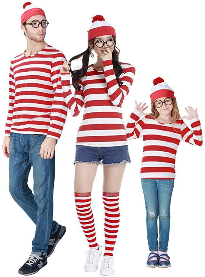 Where's Wally Parent-Child Costume. Image via Amazon.