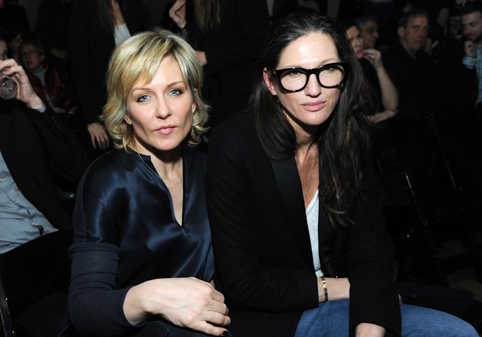 IMAGES DISTRIBUTED FOR IFC - Amy Carlson and Jenna Lyons attend the Portlandia Season 4 Premiere Party on Thursday, February, 27, 2014 in New York. (Photo by Diane Bondareff/Invision for IFC/AP Images)