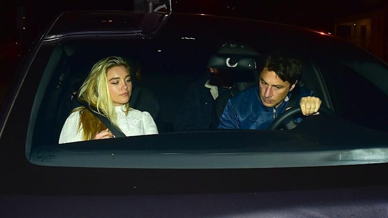 Florence Pugh and Zach Braff Keep It Casual During Los Angeles Date Night