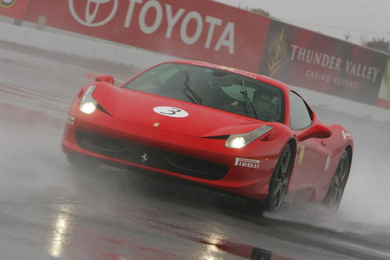 Racing Ferraris in the Rain