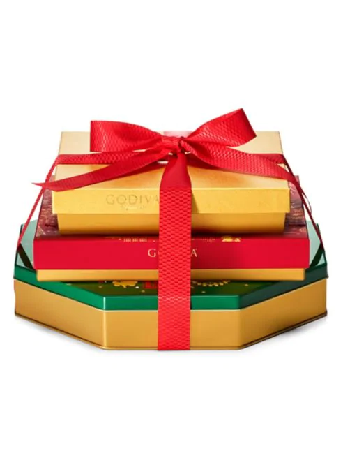 Godiva Season's Greetings Chocolate Gift Tower