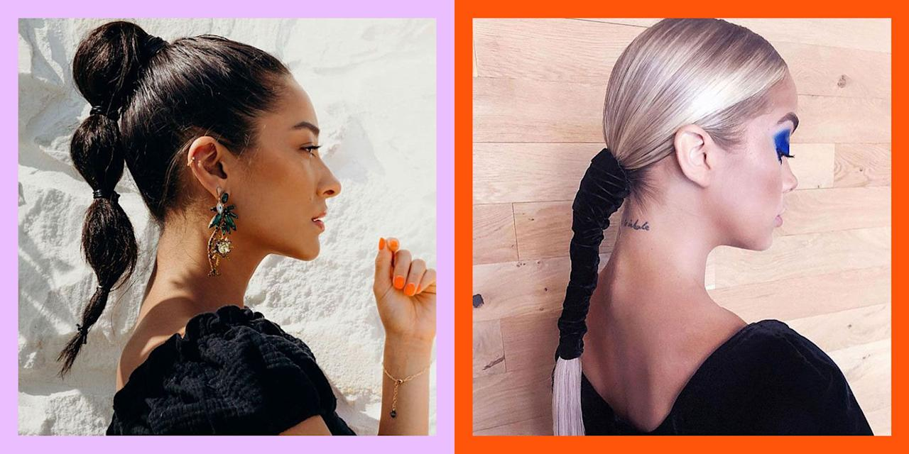 """<p>As much as I love a ponytail, I'll be the first to admit that it's kindaaa a cop-out hairstyle. Like, sure, they're perfect for running errands or """"going to the gym"""" (aka running errands in leggings), but taking the time to whip up a <a href=""""https://www.cosmopolitan.com/style-beauty/beauty/a29499677/how-to-high-stitch-ponytail/"""" target=""""_blank"""">ponytail hairstyle</a> that <em>actually</em> looks put together is a struggle. So in the spirit of switching up one of my boring, blah go-tos, I combed through Instagram to find the prettiest (but easiest) ponytail ideas of all time. With cute <a href=""""https://www.cosmopolitan.com/style-beauty/beauty/g29146065/90s-hairstyle-ideas/"""" target=""""_blank"""">'90s-inspired looks</a> and loose and easy loose, low options, I found something for pretty much everyone, ahead. Trust:<strong> You'll never look at ponytails the same way once you've seen this lineup</strong>.<em></em> </p>"""