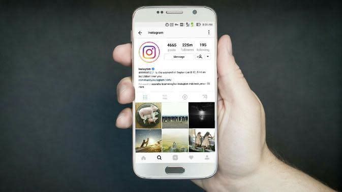 Ilustrasi Instagram di Smartphone Android. Liputan6.com/Mochamad Wahyu Hidayat