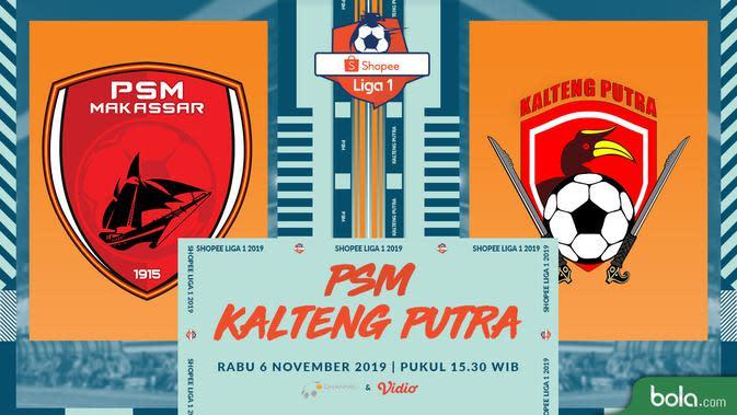 Shopee Liga 1: PSM Geser Persib Usai Tekuk Kalteng Putra 2-1
