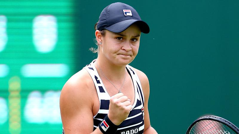 Ashleigh Barty makes winning start to grass-court season at Birmingham Classic