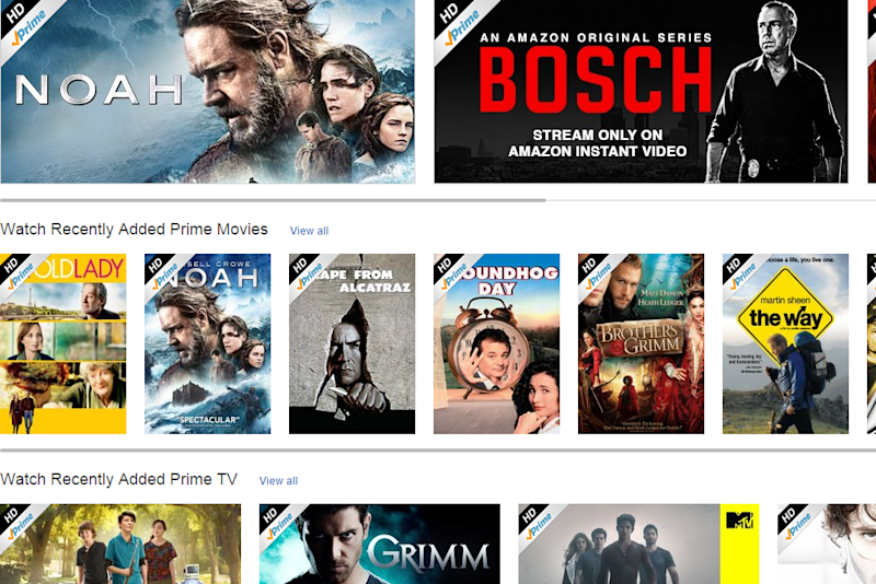Amazon Prime Instant Video Browse