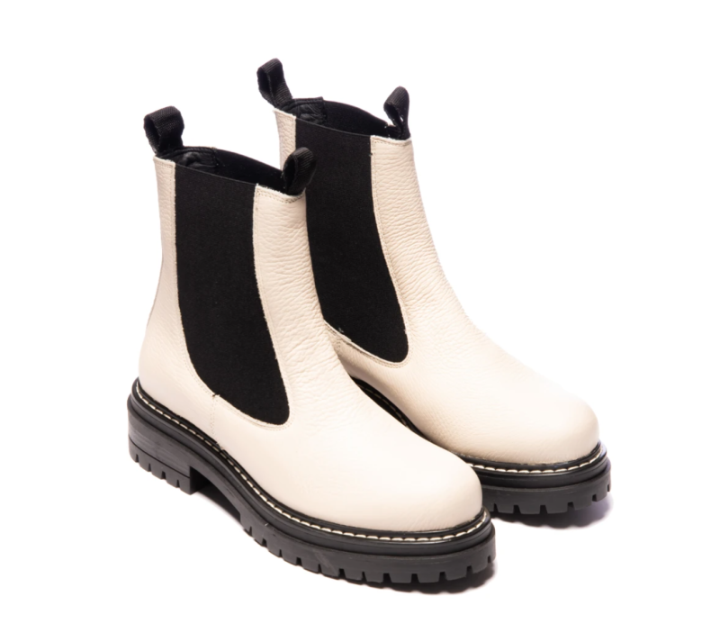 Thunder White Leather Boots. Image via L'Intervalle.