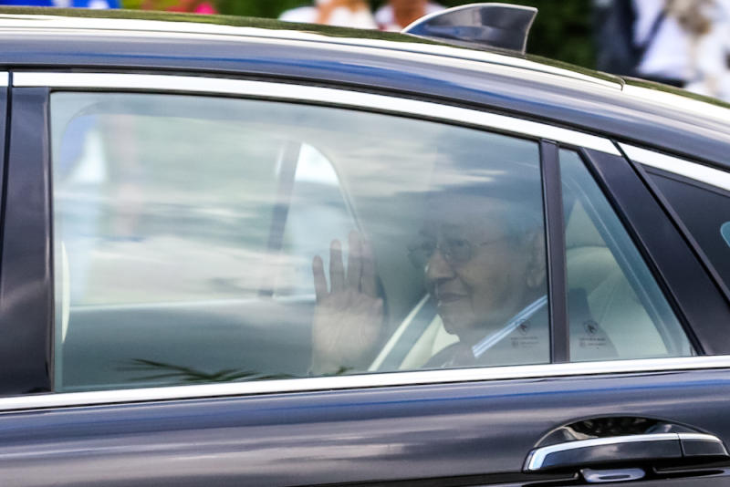 Tun Dr Mahathir Mohamad leaves Istana Negara February 24, 2020. — Picture by Firdaus Latif