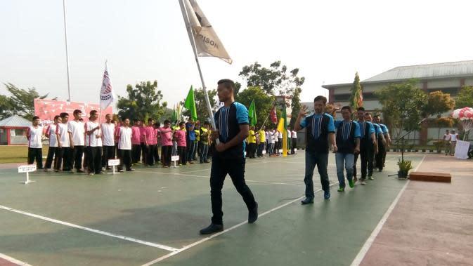 Seratus napi pendamping penghuni Rutan Klas 1 Jambe, Kabupaten Tangerang, dipersiapkan untuk menjadi tim sorak pada pelaksanaan Asian Games 2018