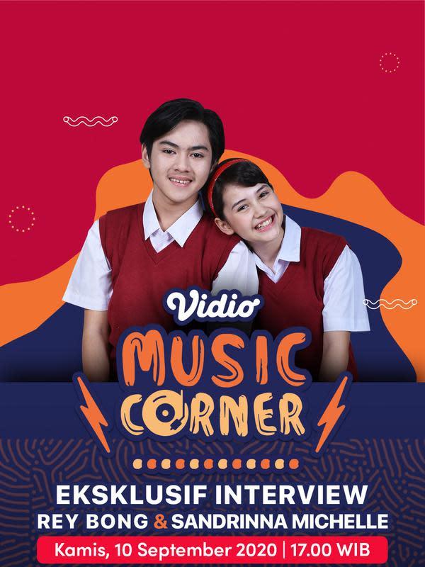 Vidio Music Corner bersama Sandrinna Michelle dan Rey Bong. (Foto: Vidio)