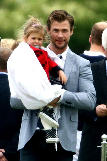 Chris Hemsworth's Daughter India Meets Prince Harry and It's as Adorable as Expected!