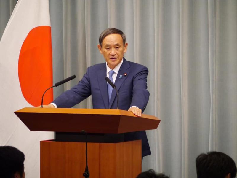 日本新任首相人選,目前以官房長官菅義偉支持率最高。圖:翻攝自菅義偉臉書