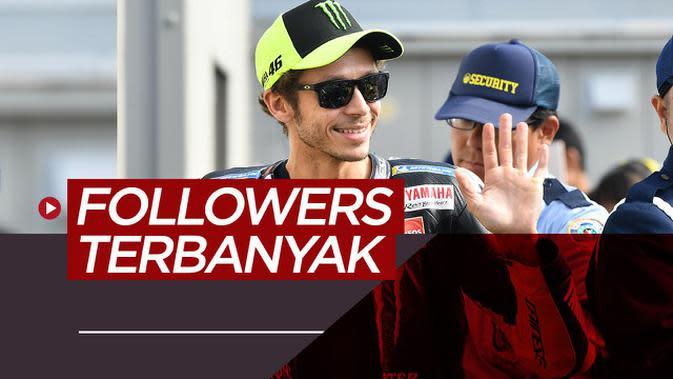 MOTION GRAFIS: Valentino Rossi dan 9 Pebalap MotoGP dengan Followers Terbanyak di Instagram