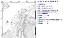 快新聞/今起9連震 台東近海規模3.5地震