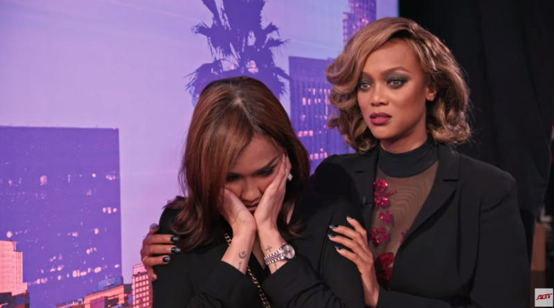 Two years ago, Tyra Banks comforted her, while the exact same scene played out. Photo: AGT