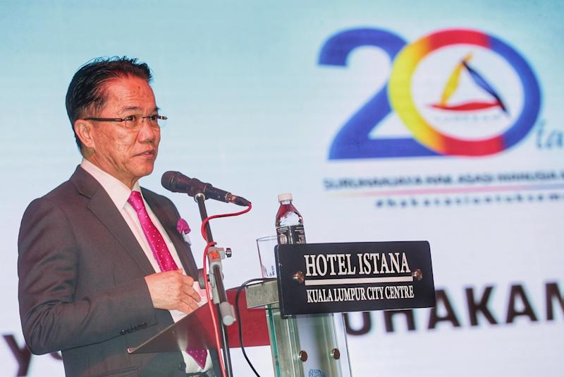 Minister in the Prime Minister's Department Datuk Liew Vui Keong speaks during the 20 Years of Suhakam and Way Forward event in Kuala Lumpur September 12, 2019. — Picture by Ahmad Zamzahuri