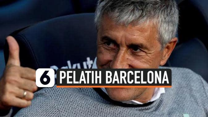 VIDEO: Quique Setien, Pelatih Baru Barcelona Usai Valverde Dipecat