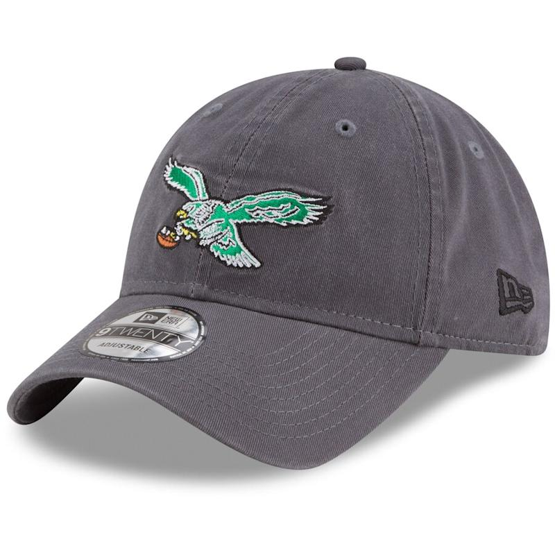Men's New Era Philadelphia Eagles Graphite Core Classic Team Logo 9TWENTY Adjustable Hat