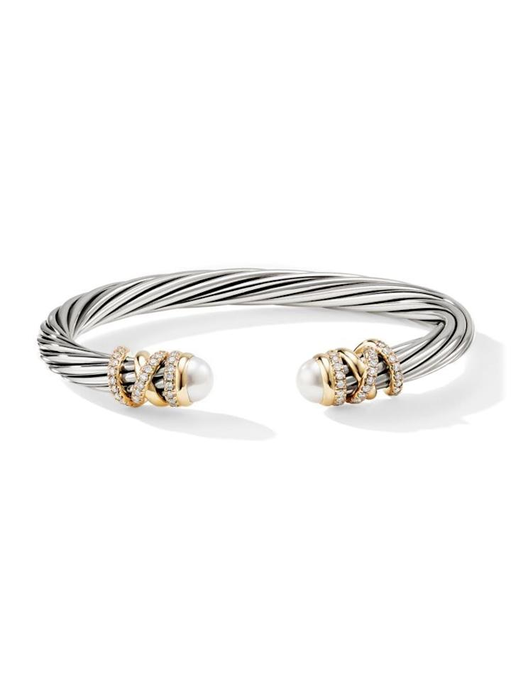 """<p><strong>David Yurman</strong></p><p>saksfifthavenue.com</p><p><strong>$2900.00</strong></p><p><a href=""""https://go.redirectingat.com?id=74968X1596630&url=https%3A%2F%2Fwww.saksfifthavenue.com%2Fdavid-yurman-helena-18k-yellow-gold-pave-diamond-pearl-twisted-cable-bracelet%2Fproduct%2F0400098613843&sref=https%3A%2F%2Fwww.townandcountrymag.com%2Fstyle%2Fjewelry-and-watches%2Fg27560750%2Fjune-birthstone-jewelry-pearl-moonstone-alexandrite%2F"""" target=""""_blank"""">Shop Now</a></p><p>This classic David Yurman cable bracelet studded with diamonds and freshwater pearls is a great way to bring a touch of pearly sophistication to the everyday.</p>"""