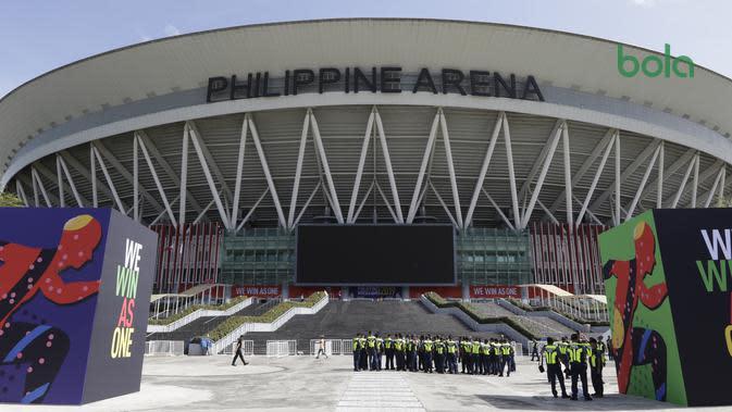 Philippine Arena bersiap untuk opening ceremony SEA Games 2019, Sabtu (30/11/2019). (Bola.com/Muhammad Iqbal Ichsan)