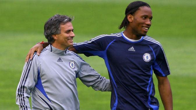 Didier Drogba merupakan striker andalan Jose Mourinho pada periode pertamanya di Chelsea.