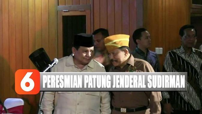 Menhan Prabowo Subianto Resmikan Patung Jenderal Sudirman di Sleman