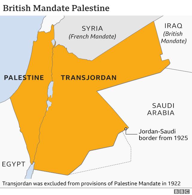 Peta Mandat Inggris Palestina