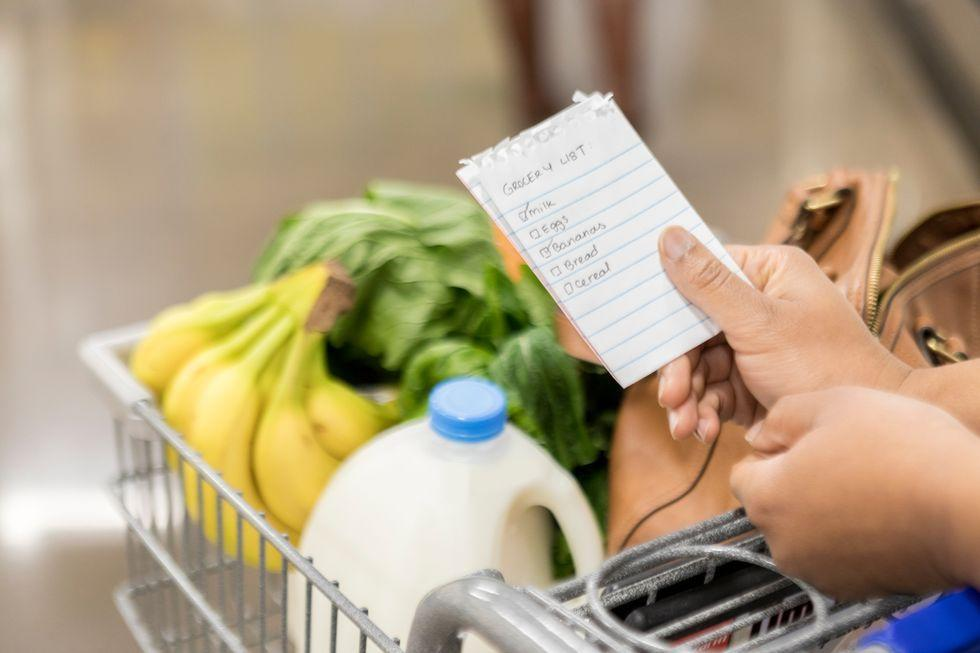 <p>Instead of aimlessly wandering the grocery store thinking about what you want to eat the next night or two, put more thought into it. Before you go shopping, sit down and come up with a few meal ideas for the next few days and fill your cart with those items. This keeps you from buying unhealthy items you really don't need and sets you up for success throughout the week. </p><p>Bonus tip: don't go to the grocery store hungry, or you'll end up buying all the snacks. </p>
