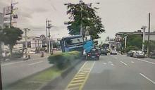 大貨車司機疑心肌梗塞 閃過加油站自撞分隔島