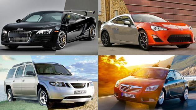 10 pairs of cars separated at birth