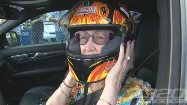 Sixty-something-old drag racer proves there's nobody meaner